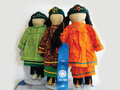 IMAGE Linda Williams (Turtle Clan) award-winning No Face dolls