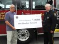 IMAGE Oneida Nation Quarterly payment to the Verona Fire District.
