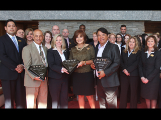 IMAGE Ray Halbritter, Turning Stone Team Members accept AAA Four Diamond awards