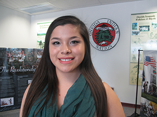 IMAGE Photo of Jenna Jacobs (Wolf Clan) who will represent Oneida at the New York State Fair.