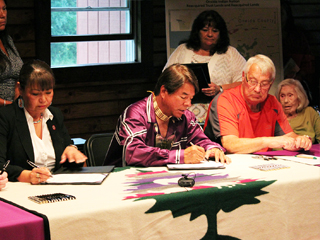 IMAGE 2014 Official Land into Trust Signing with the Bureau of Indian Affairs