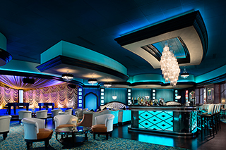 IMAGE Interior of the sensual Turquoise Tiger, located at Exit 33, Turning Stone Resort.